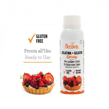 Spray de Gelatina brillo para tartas y obleas Decora Italia