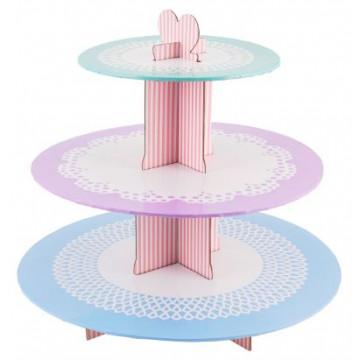 Stand de presentación cupcakes Pasteles Geh