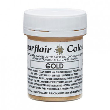 Pintura comestible para Chocolate Oro 35 gr Sugarflair
