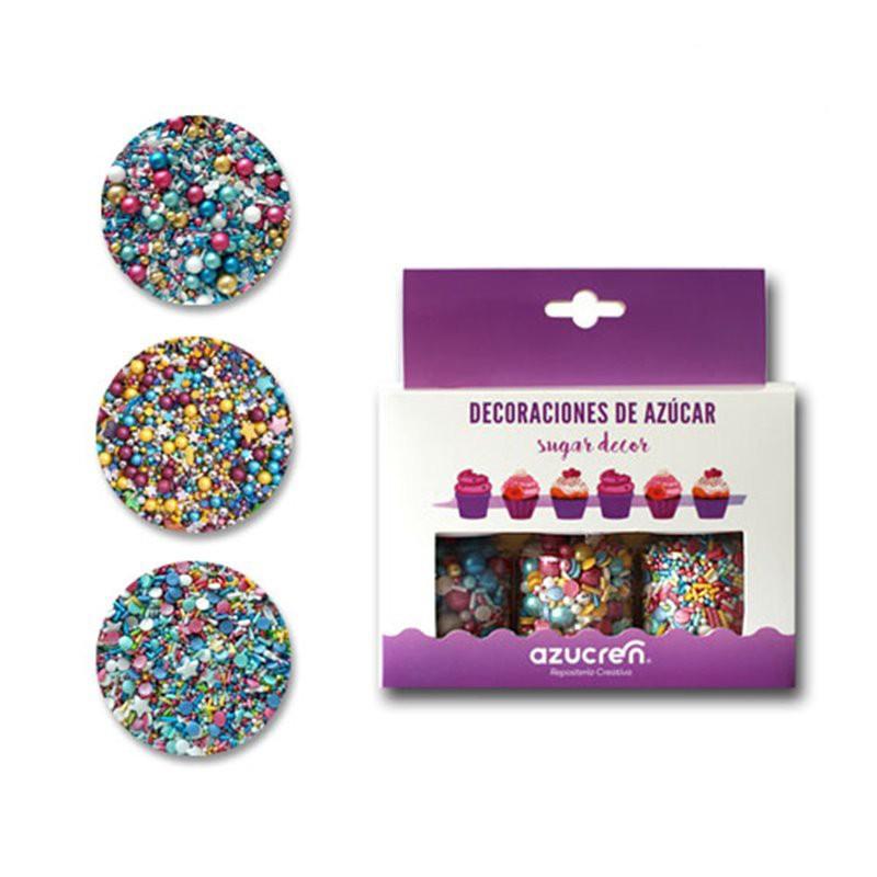 Pack 3 Sprinkles Vintage, Unicornio y Fiesta de Cumpleaños Azucren