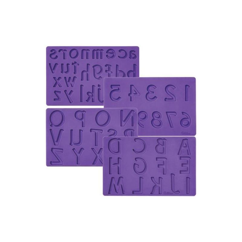Molde Silicona letras y números Wilton