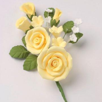 Bouquet de flores de azúcar: Rosas amarillas