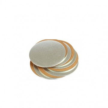 Plato base oro y plata 16.5 cm