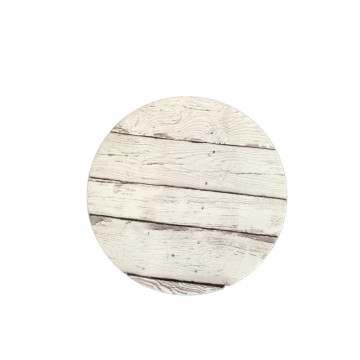 Bandeja de presentación redonda 25 cm x 3 mm Madera