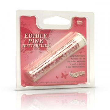 Sprinkles Edible Butterflies Pink Rainbowdust