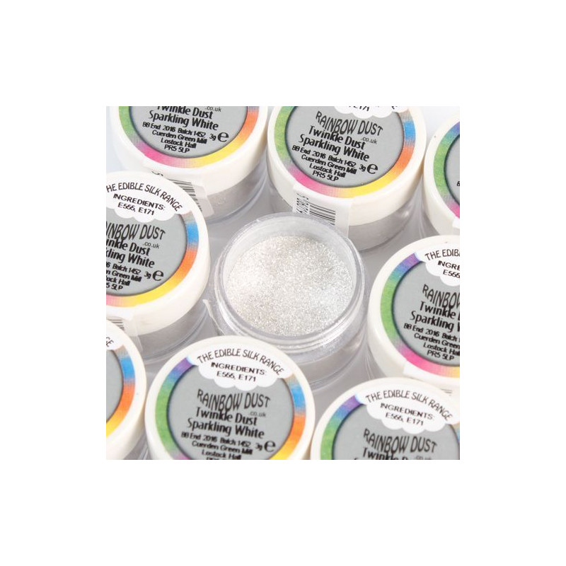 Polvos de brillo seda Twinkle Dust - Sparkling White  Rainbow Dust
