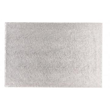Bandeja de presentación rectangular plata 45 x 35 cm