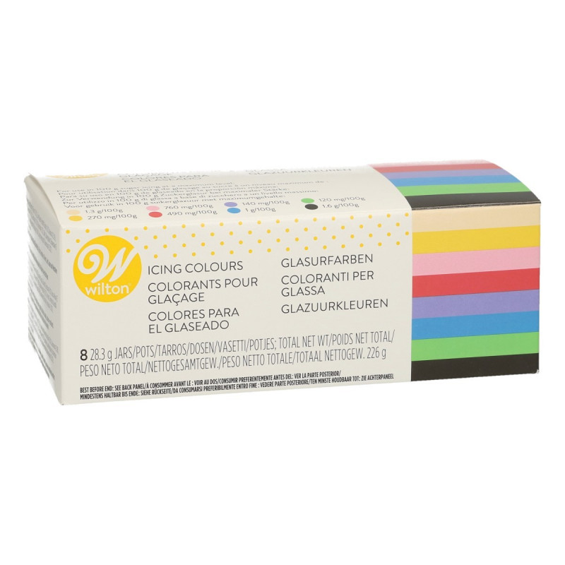 Pack 8 Colorantes en gel Wilton