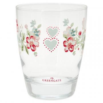 Vaso de cristal Sonia White Green Gate