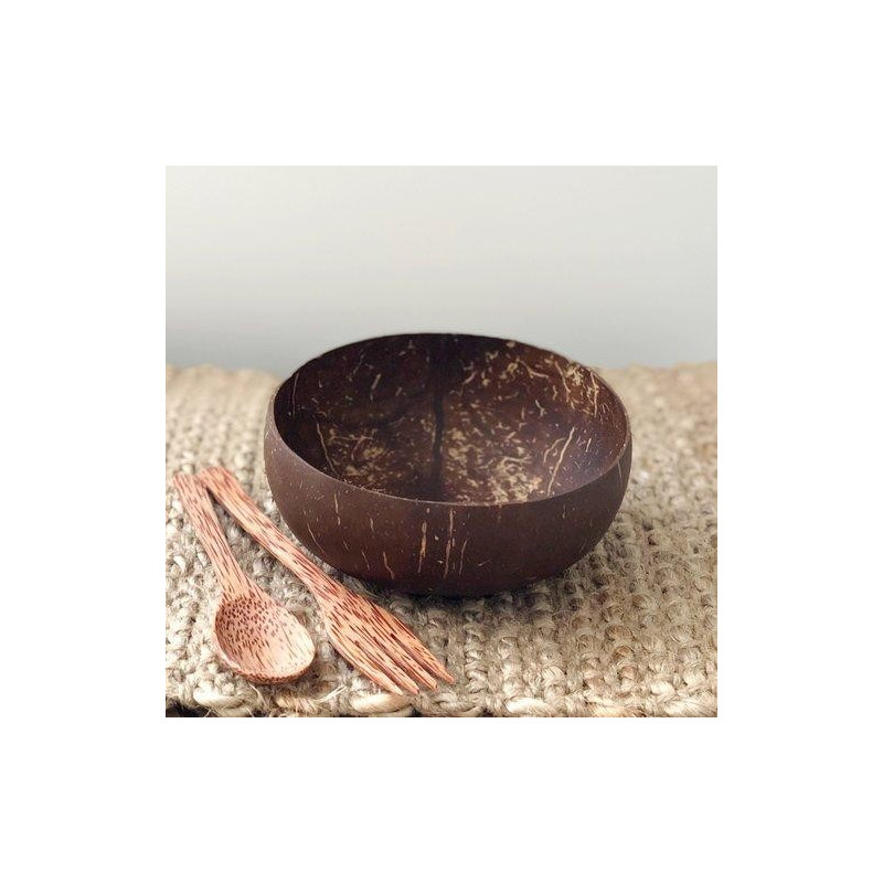 Cuenco de Cascara Natural de Coco