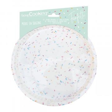 Molde de silicona Redondo 22 cm Funfetti Scrapcooking