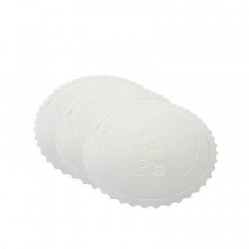 Bandeja redonda 25 cm x 3 mm Blanco Extra Fuerte Azucren