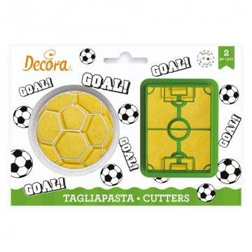 Pack 2 cortantes: Balón y Campo de futbol Decora Italia