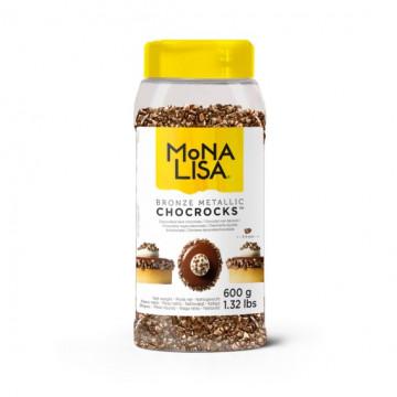 ChocRocks Bronce Rocas de Chocolate Negro Mona Lisa Callebaut