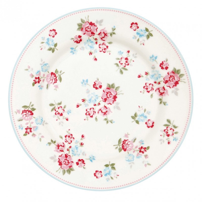 Plato de cerámica 20 cm Sonia White Green Gate