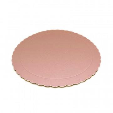 Bandeja redonda 20 cm x 3 mm Rosa Bebe Extra Fuerte