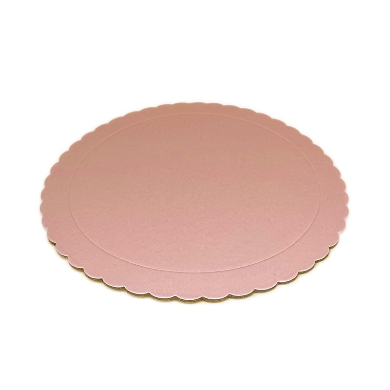Bandeja redonda 25 cm x 3 mm Rosa Bebe Extra Fuerte