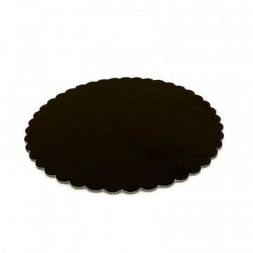Bandeja redonda 20 cm x 3 mm Negro Extra Fuerte Azucren