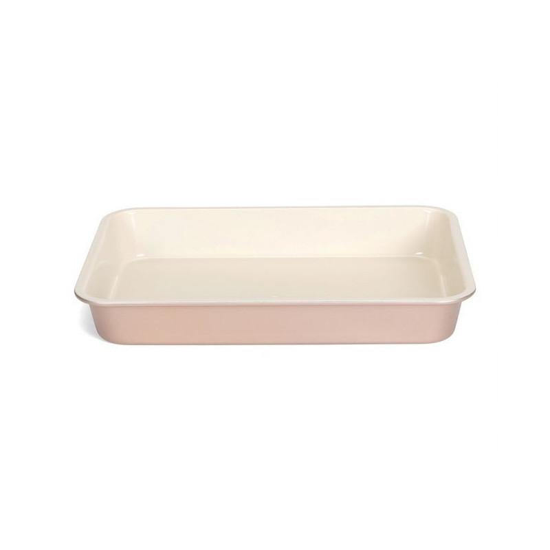 Molde rectangular de 35x 24 cm Ceramic Bake Rosa Patisse