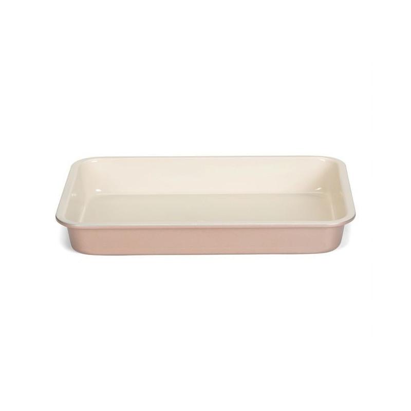 Molde rectangular de 29 x19 cm Ceramic Bake Rosa Patisse