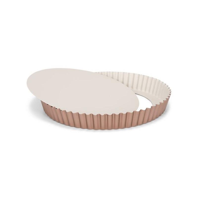 Molde de tarta borde rizado 28 cm Ceramic Bake Rosa Patisse