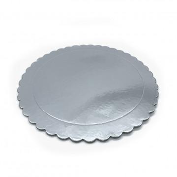 Bandeja redonda 25 cm x 3 mm Plata Extra Fuerte