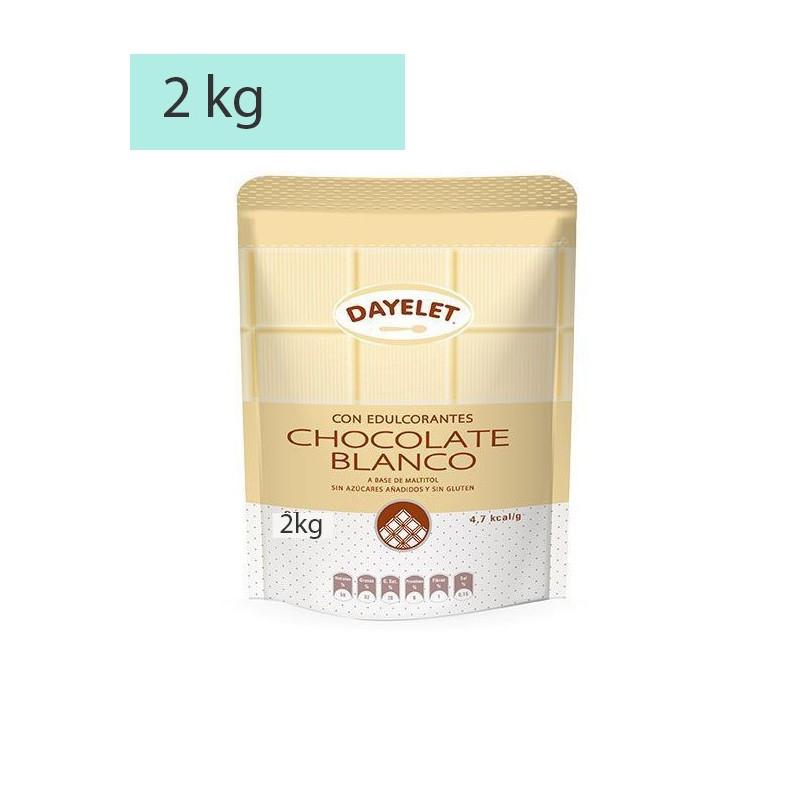 Chocolate Blanco sin azúcar 2kg Dayelet