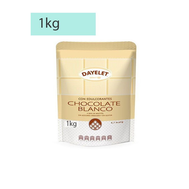 Chocolate Blanco sin azúcar 1 kg Dayelet