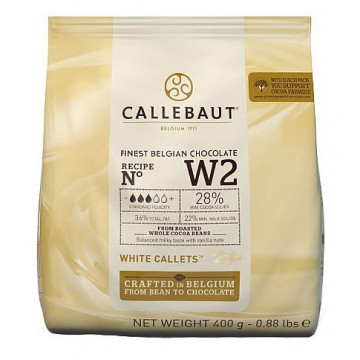 Chocolate blanco 28% en grageas 400 g Callebaut