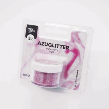 Purpurina brillante Decorativa ROSA 5g Azucren