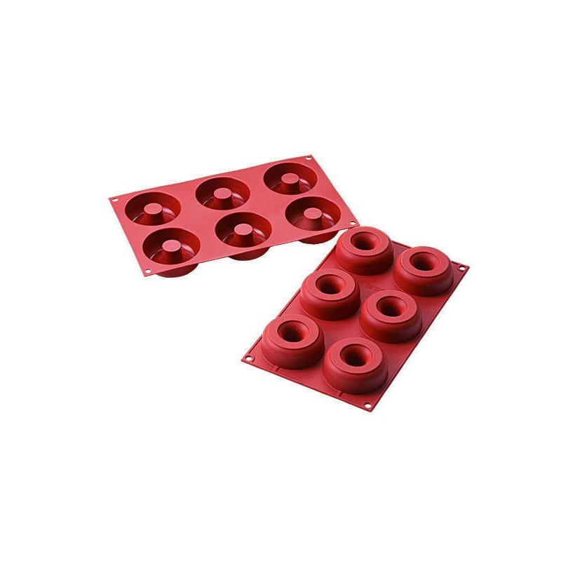 Molde 6 cavidades Donuts Silicona SLK