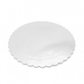 Bandeja redonda 20 cm x 3 mm Blanco Extra Fuerte