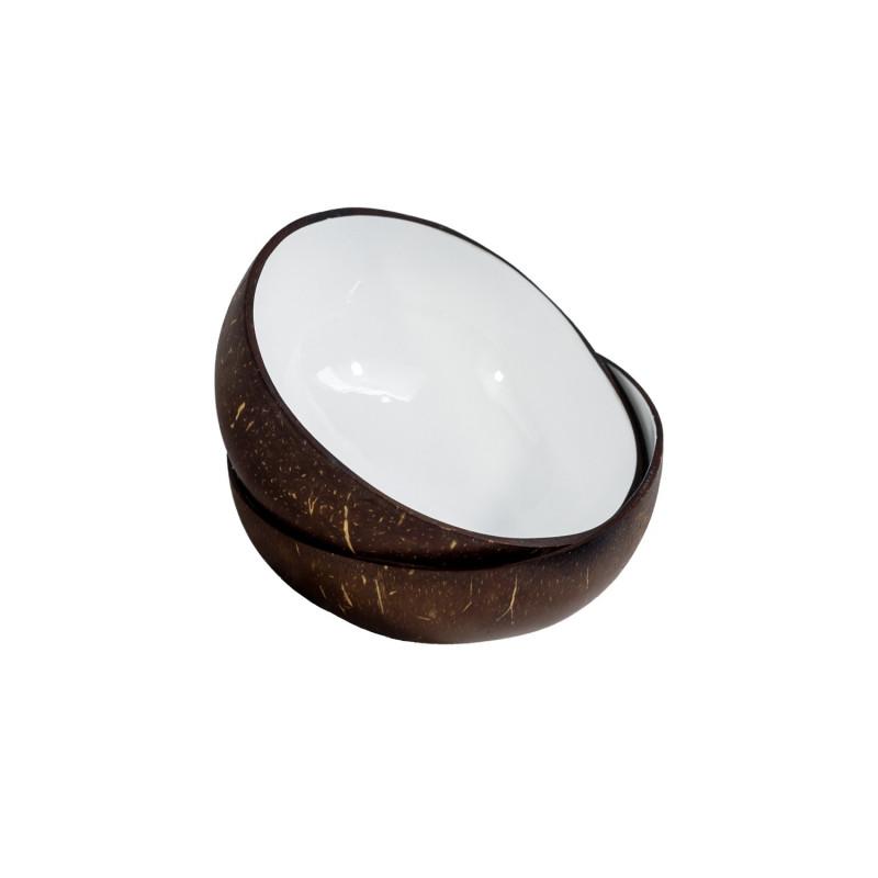 Cuenco de Cascara Natural de Coco Lacado