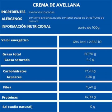 Mantequilla de Avellana 330 g Nut & Me
