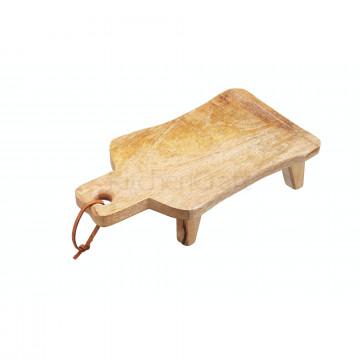 Tabla de corte de madera con patas GRANDE Kitchen Craft
