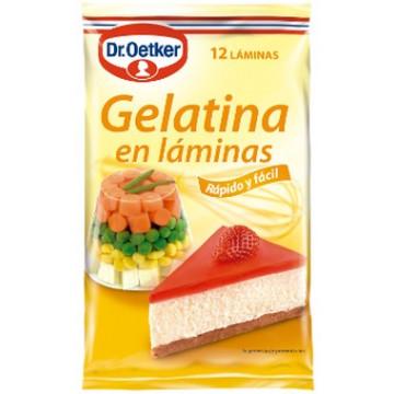 Gelatina en láminas 12 unidades Dr Oetker