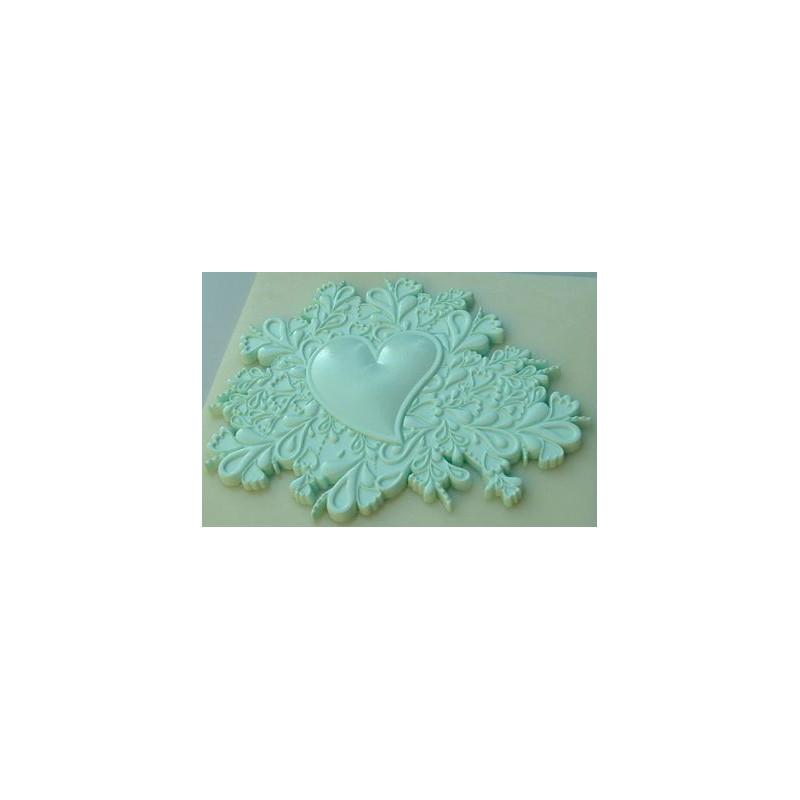 Molde silicona Heart Cake Topper Alphabet Mould