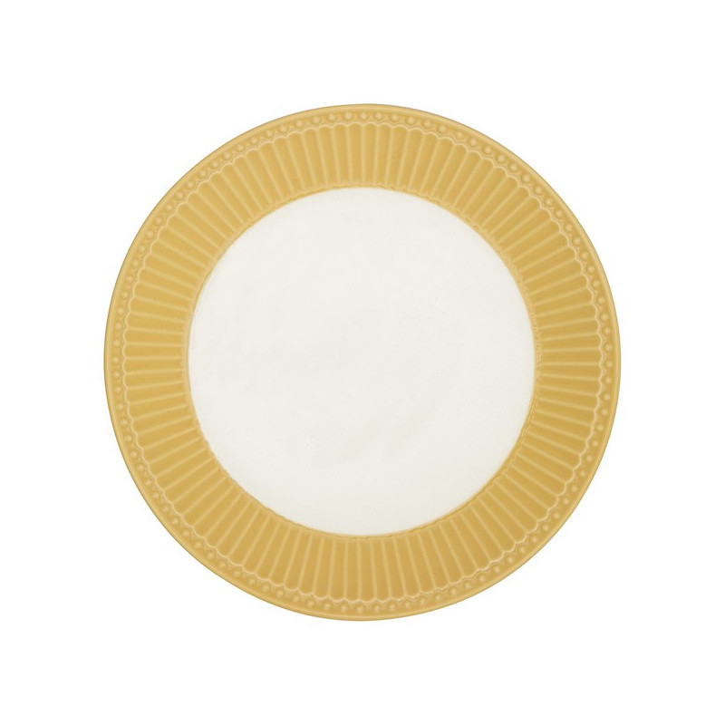 Plato de cerámica 23 cm Honey Mustard Green Gate