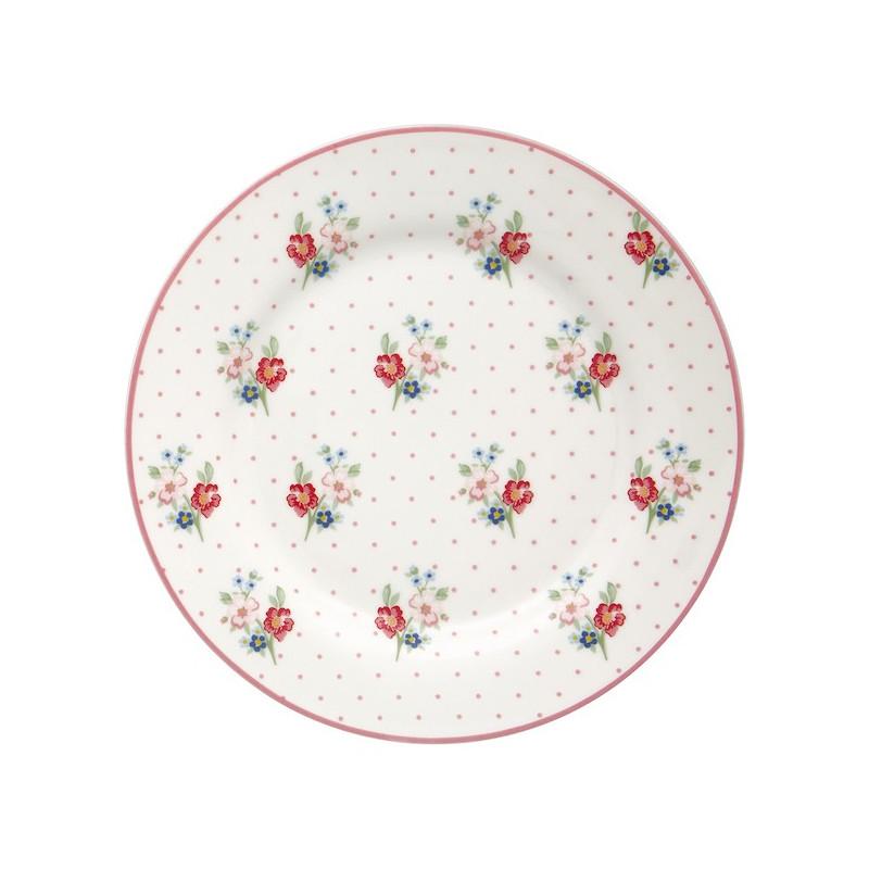 Plato de cerámica 20 cm Eja White Green Gate