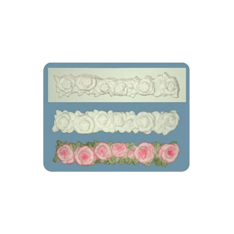 Molde silicona borde Rosas FPC