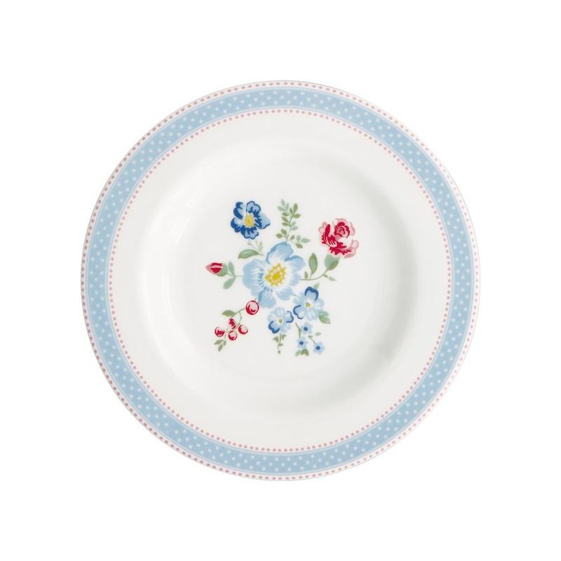 Plato de cerámica 15 cm Evie White Green Gate