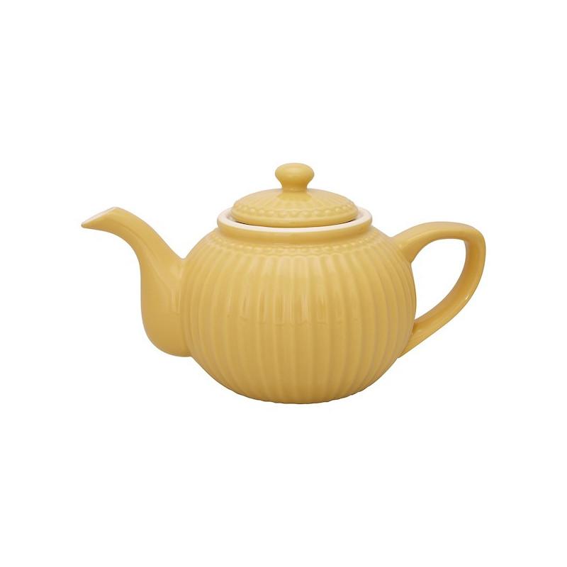 Tetera de cerámica Alice Honey Mustard Green Gate