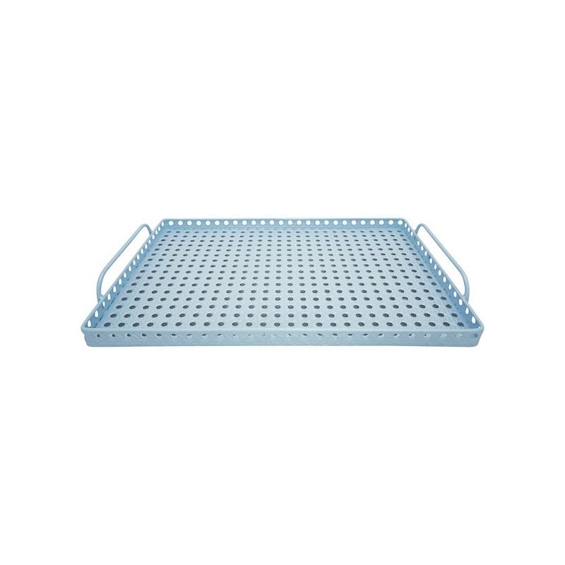 Bandeja rectangular de metal Azul Pastel Green Gate