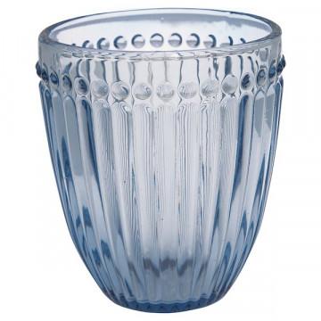Vaso de cristal labrado Alice Blue Green Gate