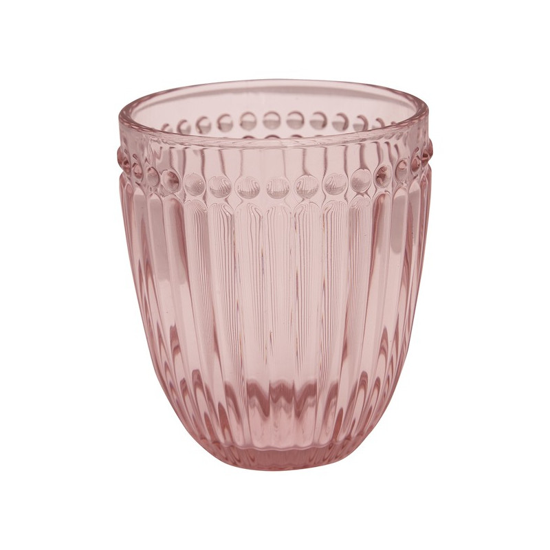 Vaso de cristal labrado Alice Pink Green Gate