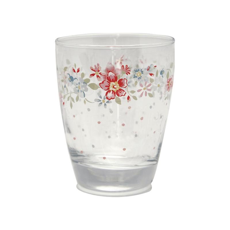 Vaso de cristal Clementine White Green Gate