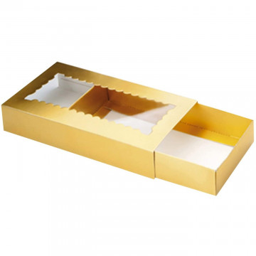 Caja estuche con tapa para turrón Ibili