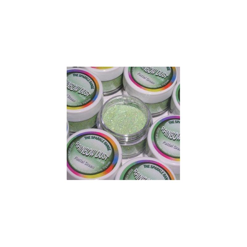 Purpurina fina Decorative Sparkles Pastel Green Rainbow Dust