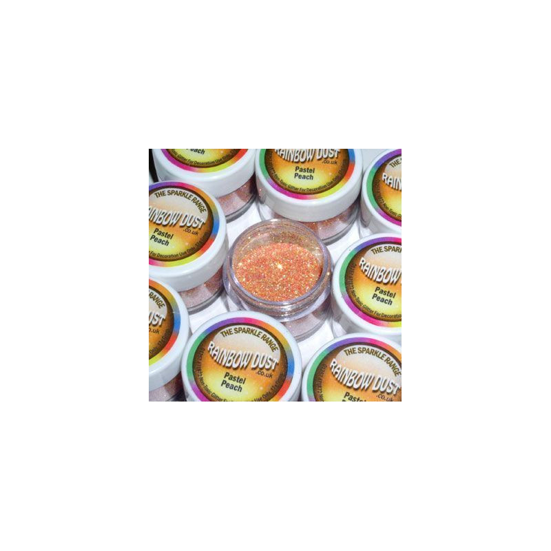 Purpurina fina Decorative Sparkles Pastel Peach Rainbow Dust