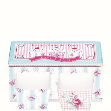 Capsulas cupcakes decorativas Tray Holly Box Green Gate